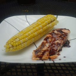 Grilled Balsamic-Glazed Salmon