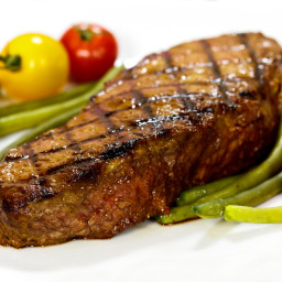 Grilled Butter-Marinated Sirloin Steaks
