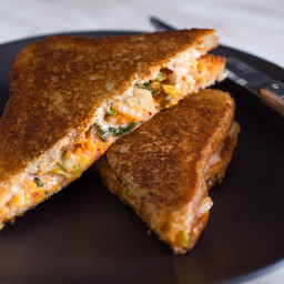 Grilled Cheese with Kimchi