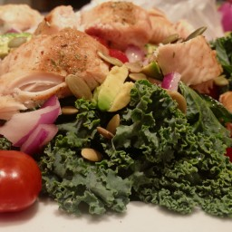 Grilled chicken and Kale salad