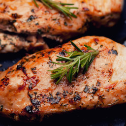 Grilled Chicken Breast with Garlic Lemon Marinade