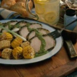 Grilled Chimichurri Pork Roast
