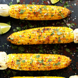 Grilled Cilantro, Lime + Paprika Corn on the Cob