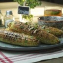 Grilled Corn with Sriracha Mayo