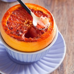 Grilled Grapefruit with Brown Sugar Rum Butter by the Gardener & the Grill