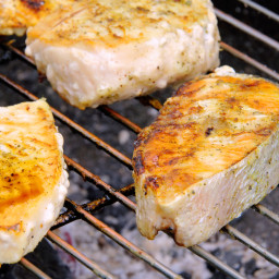 Grilled Halibut with Lime-Chipotle Butter