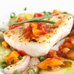 Grilled Hawaiian Fish with Papaya Relish
