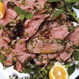 Grilled Leg of Lamb with Preserved Lemon