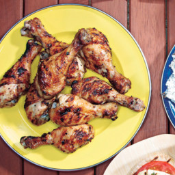 Grilled Lemon-Oregano Chicken Drumsticks