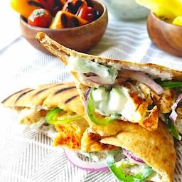 grilled mediterranean pitas
