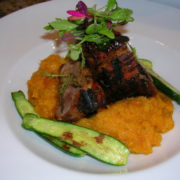 Grilled Pork Tenderloin with Molasses and Mustard