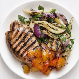 Grilled Pork with Nectarines