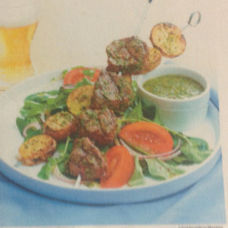 Grilled Steak & Potatoe Kebabs