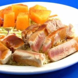 Grilled Tuna with Citrus-Ginger Sauce
