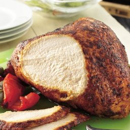 Grilled Turkey Breast with Chili-Cumin Rub