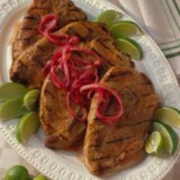 Grilled Yucatacan Pork Steaks