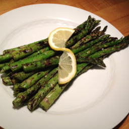 Grilled Asparagus with Lemon and Za'atar