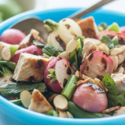 Grilled Chicken, Green Onion and Radish Salad