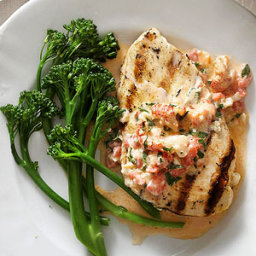 Grilled Chicken with Cajun Crawfish Cream Sauce