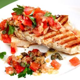 Grilled Chicken with Italian Salsa (Bruschetta-inspired)