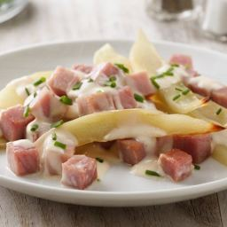 Grilled Ham and Potatoes Au Gratin Foil Pack