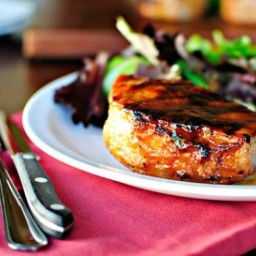 Grilled Maple Honey Glazed Pork Chops