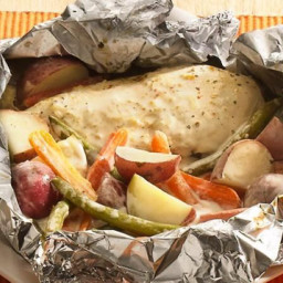 Grilled Parmesan-Ranch Chicken Foil Packets