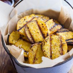 Grilled Parmesan Polenta Chips.