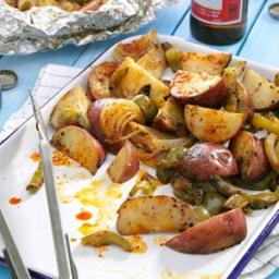 Grilled Potatoes and Peppers Recipe