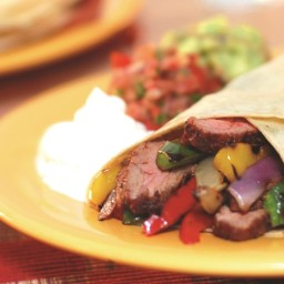 Grilled Steak and Pepper Fajitas