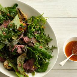 Grilled Steak Salad with Tomato Vinaigrette