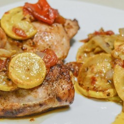 Grilled Stewed Tomatoes and Squash