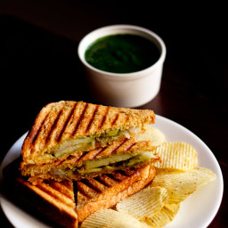 grilled veg sandwich recipe, how to make grilled veg sandwich recipe