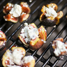 Grilling: Figs Stuffed with Goat Cheese