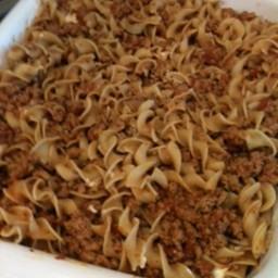 Ground Turkey and Noodle Casserole
