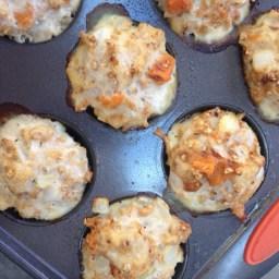 Ground Turkey Sweet Potato Meatloaf Muffins