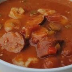 Gumbo with Chicken, Sausage & Shrimp