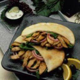 Gyros-Style Pork Sandwich