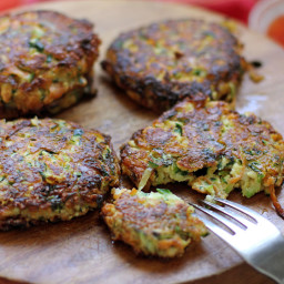 Halloumi Courgette and Herb Cake