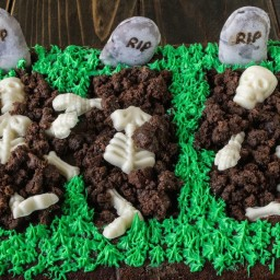 Halloween brownie graveyard