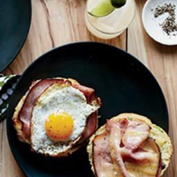 Ham-and-Cheddar Scallion Biscuit Sandwiches