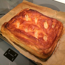 Ham and Cheese In Puff Pastry