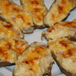 Ham and Cheese Stuffed Potatoes
