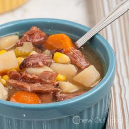 Ham, Potato, Vegetable Soup