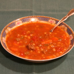 Hamburger Barley Vegetable Soup