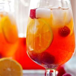 Hard Lemon and Raspberry Iced Black Tea