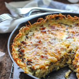 Hash Brown Breakfast Quiche
