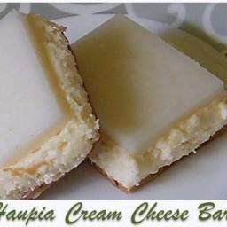 Haupia Cream Cheese Bars