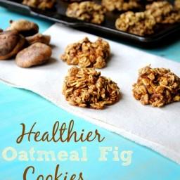 Healthier Oatmeal Fig Cookies