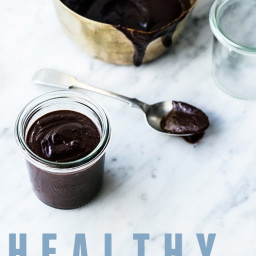 Healthy 3-ingredient Chocolate Fudge Sauce (no added sugar, grain free, veg